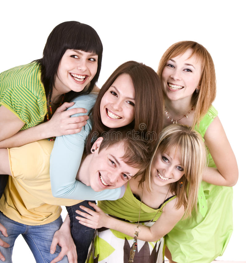 Download Group Of Happy Young People. Stock Image - Image: 12153329