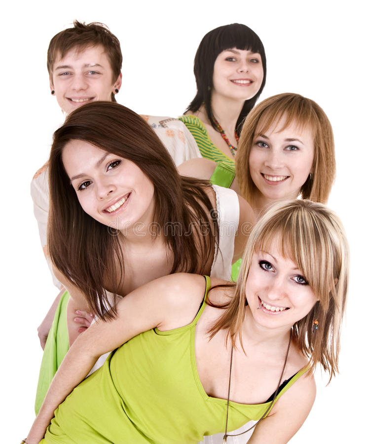 Download Group Of Happy Young People. Stock Image - Image: 12153381