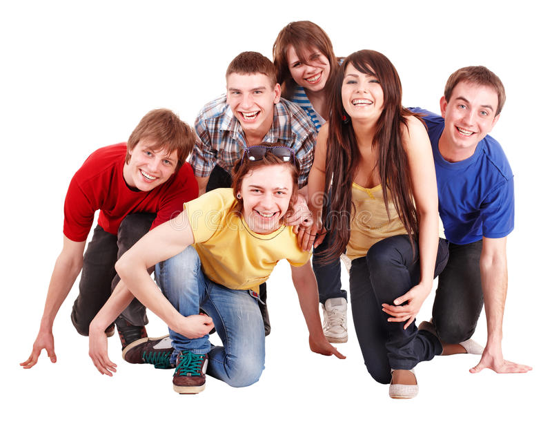 Download Group Of Happy Young People. Stock Image - Image: 13831569