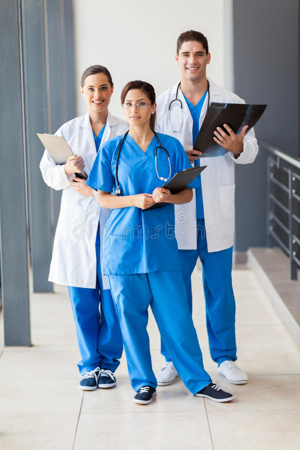 Group healthcare workers stock image