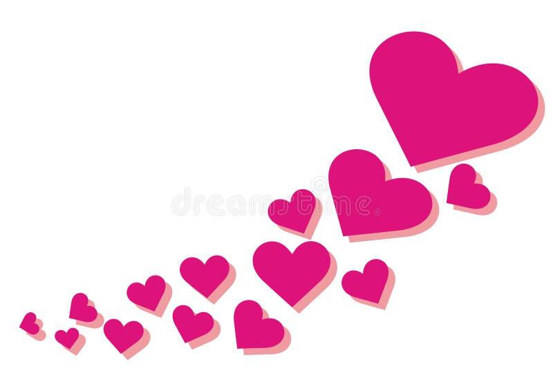 Group of heart, vector illustration royalty free illustration