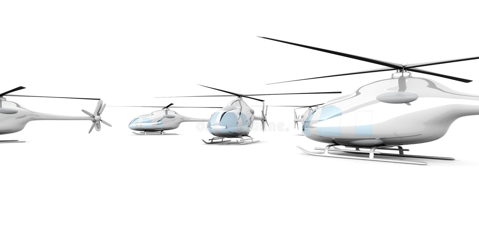 A group of Helicopters