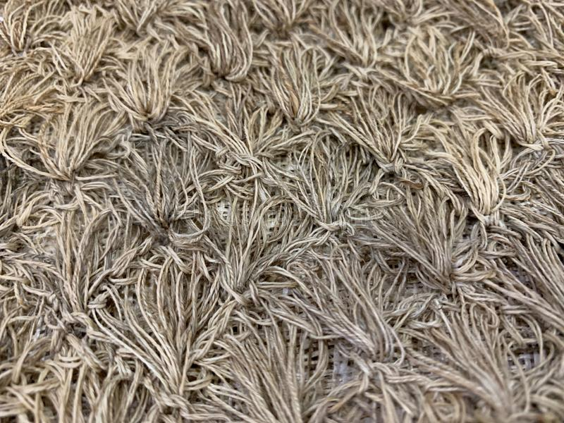 A group of hemp fibers Patterns of natural fibers, fabric Hand-made products from villagers as abstract background, crafts stock photography