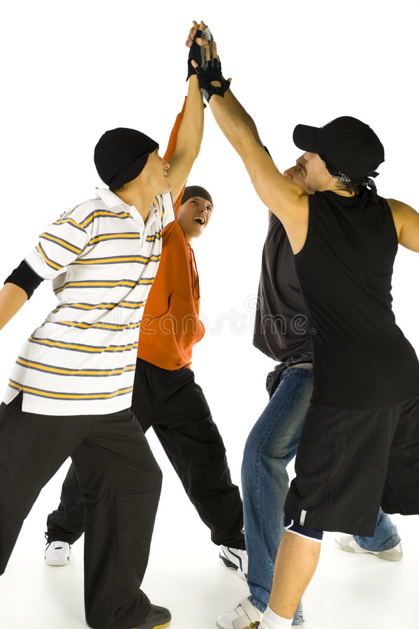 Group high five royalty free stock photography
