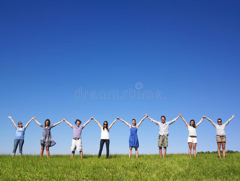 Download Group Holding Hands Royalty Free Stock Photography - Image: 11181727
