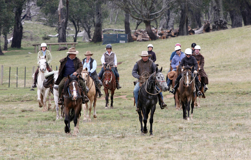 Group of horseriders stock image