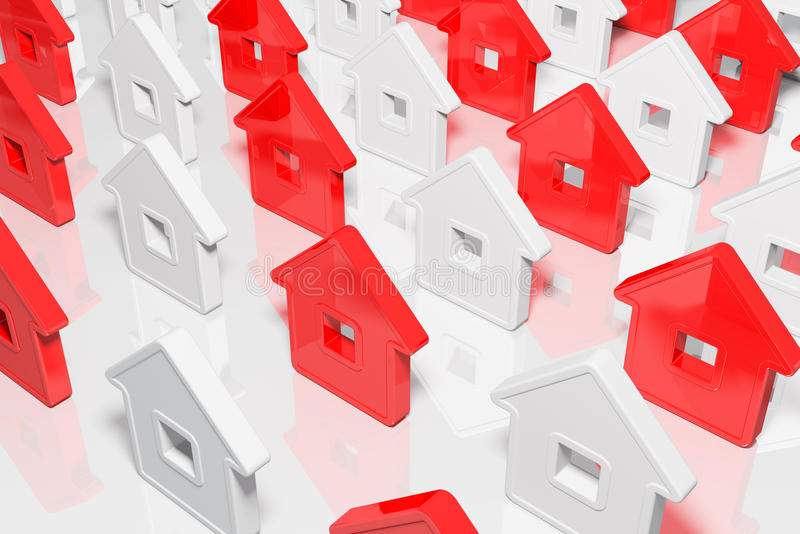 Download Group houses abstract form stock illustration. Image of house - 14865162
