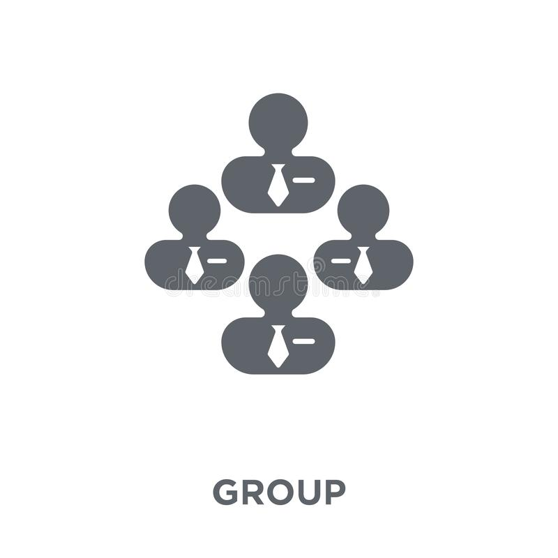 Group icon from Human resources collection. royalty free illustration