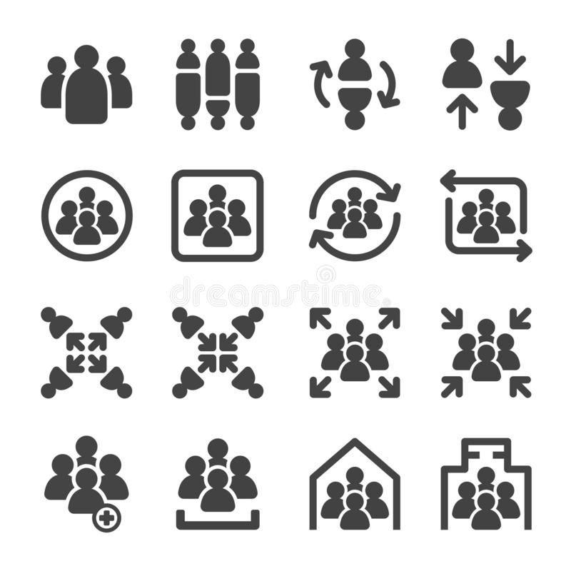 Group icon set. Group,meeting icon set,vector and illustration royalty free illustration