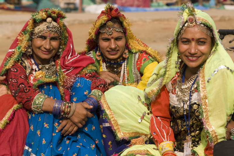 Group of Indian Dancers in Traditional Dress stock photos