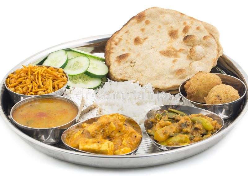 Indian food Thali. Group of Indian Food or Indian Thali, south indian thali, south indian compleat meal, south indian complete lunch royalty free stock photography