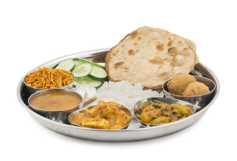 Indian food Thali. Group of Indian Food or Indian Thali, south indian thali, south indian compleat meal, south indian complete lunch royalty free stock images