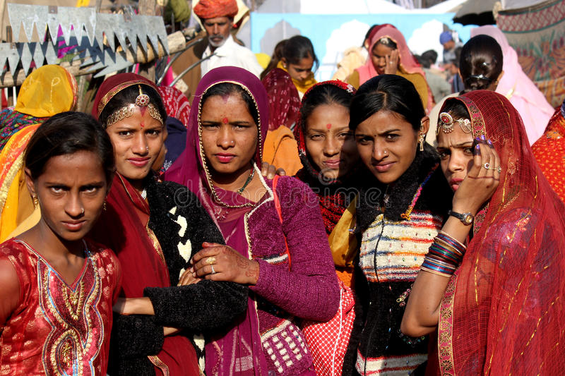 Group of Indian girls royalty free stock image