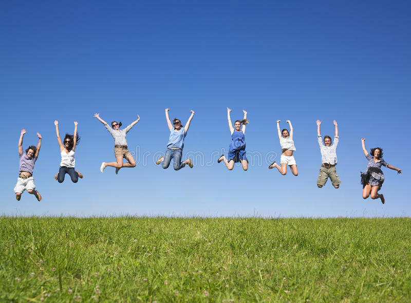 Download Group Jumping Royalty Free Stock Photo - Image: 11009245