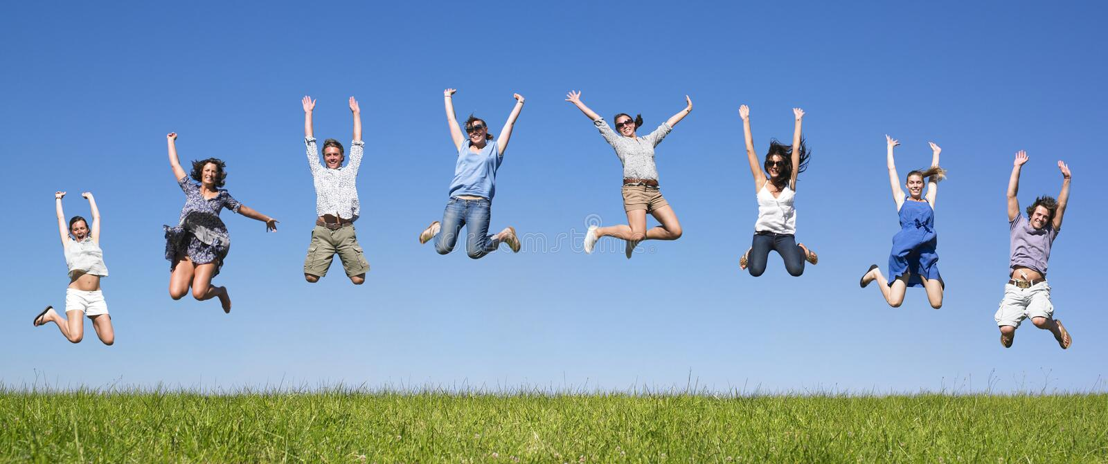Download Group jumping stock image. Image of family, horizontal - 11181793