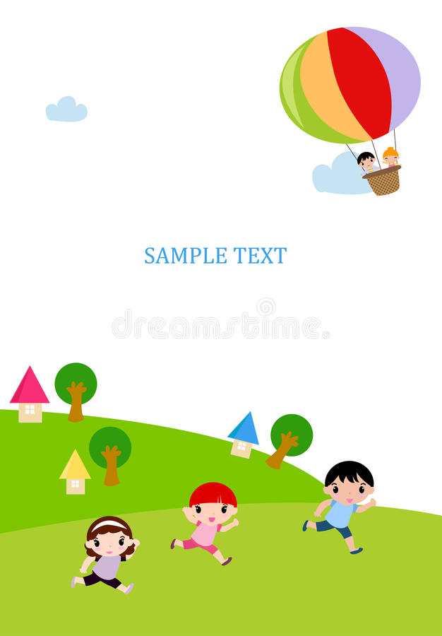 Download Group of kids and balloon stock vector. Image of childhood - 27718558