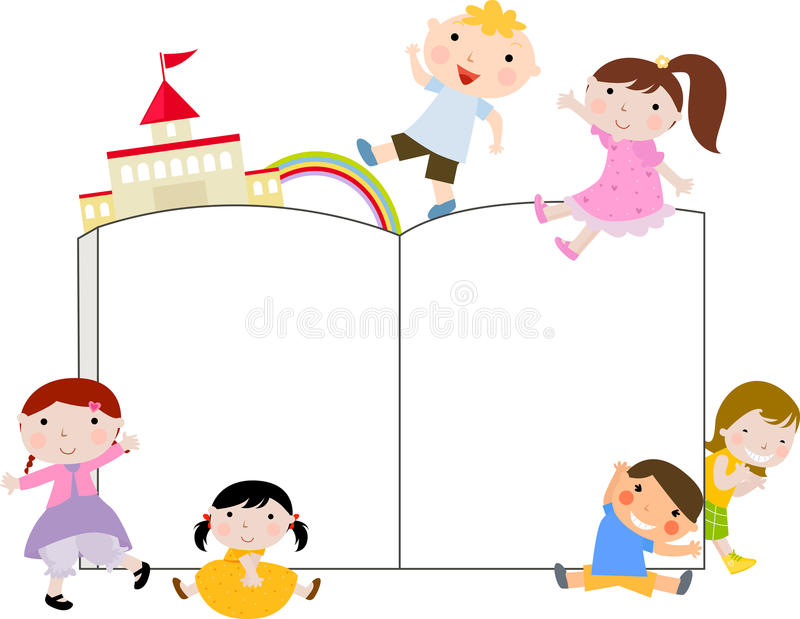 Download Group Of Kids And Book Royalty Free Stock Image - Image: 15259786