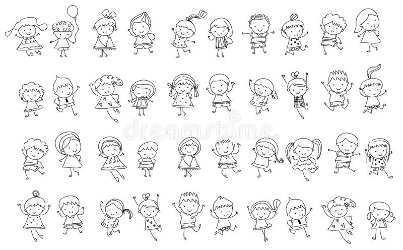 download group of kidsdrawing sketch stock vector illustration 66542035 - Kids Drawing Sketch
