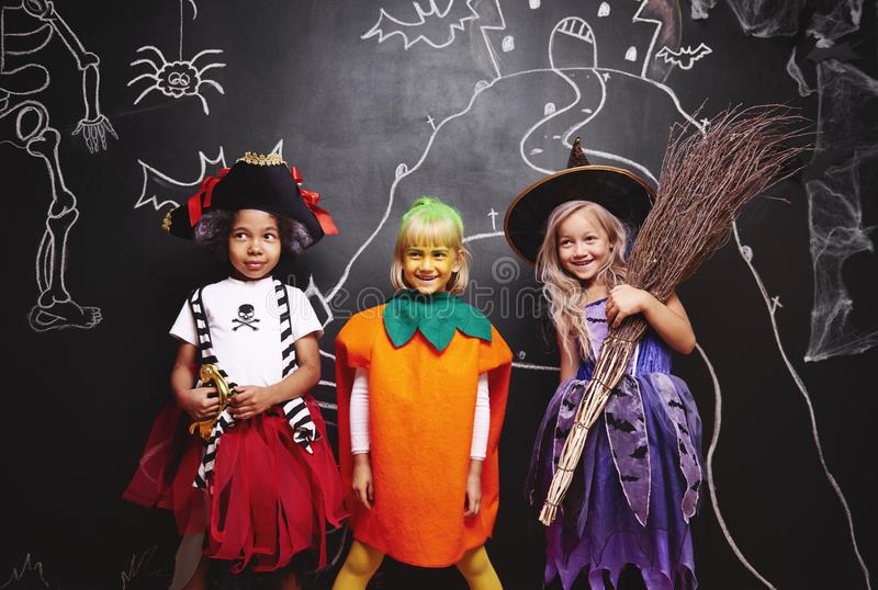 Halloween party for kids stock photo