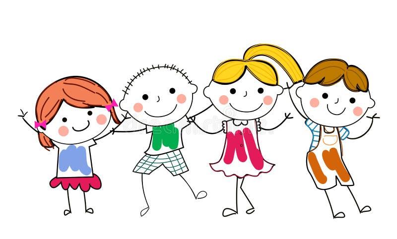 Download Group of kids having fun stock vector. Image of cartoon - 35468891