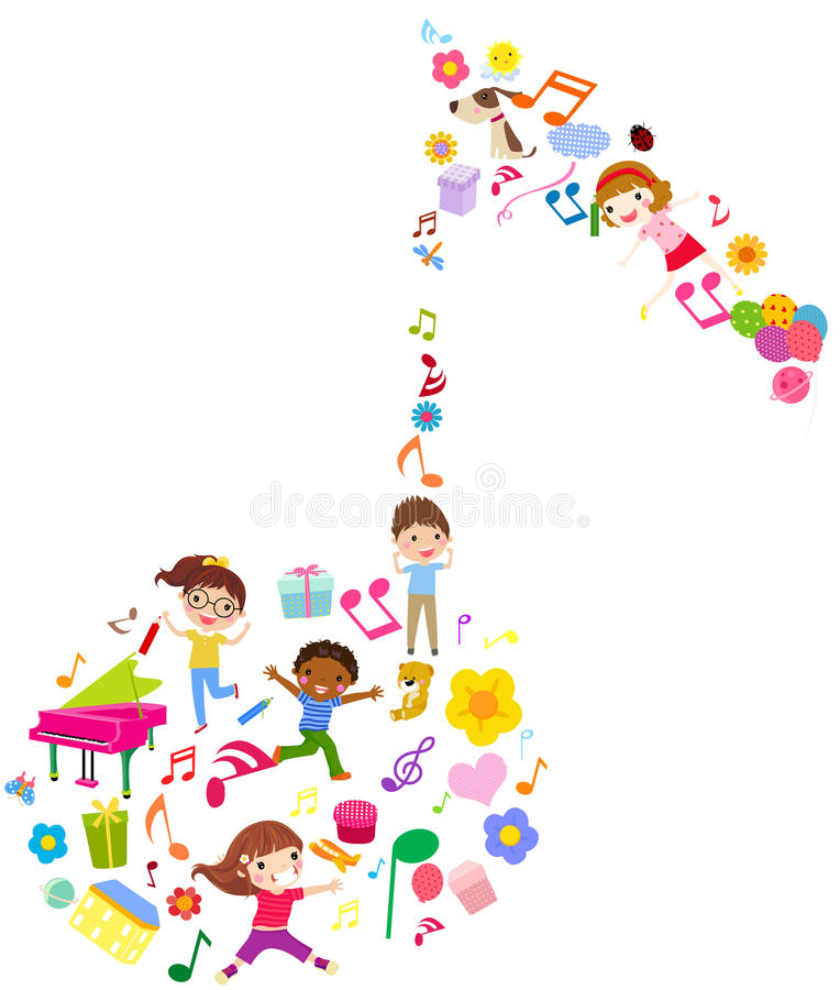 Download Group Of Kids And Music Stock Photography - Image: 24745982