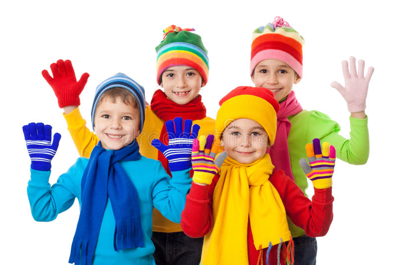 Download Group Of Kids In Winter Clothes Stock Image - Image: 28944449