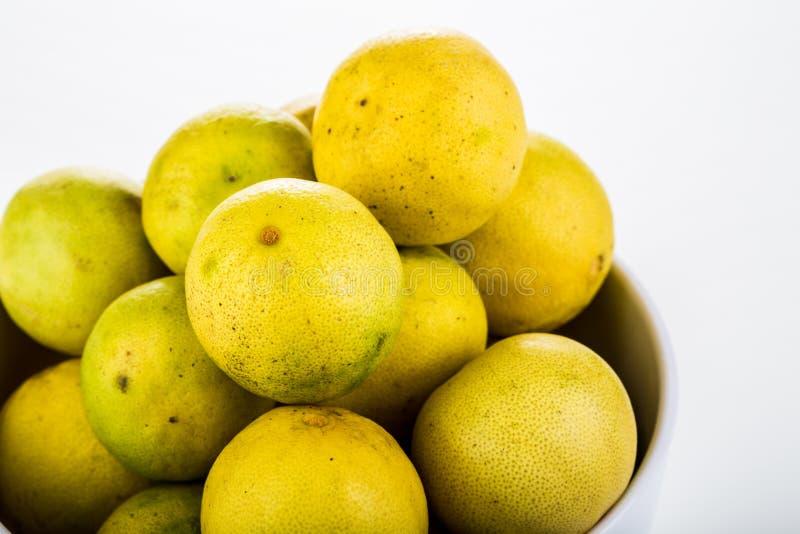 Group of lemon isolated on white background.  royalty free stock images