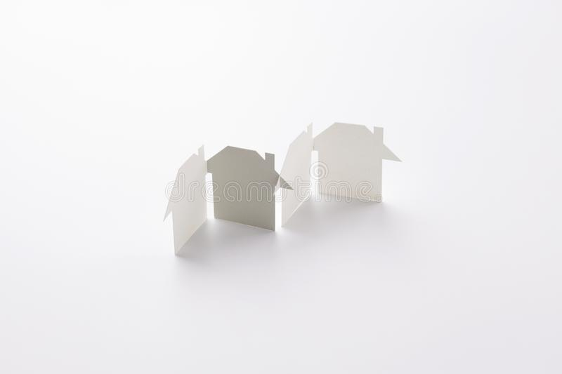 Gray in unity paper house group stock photos