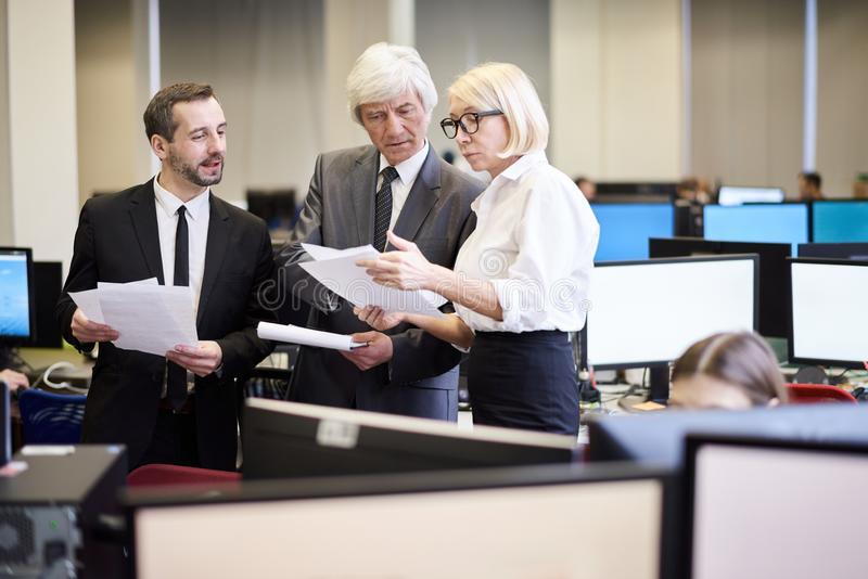 Group of Mature Business People stock photography