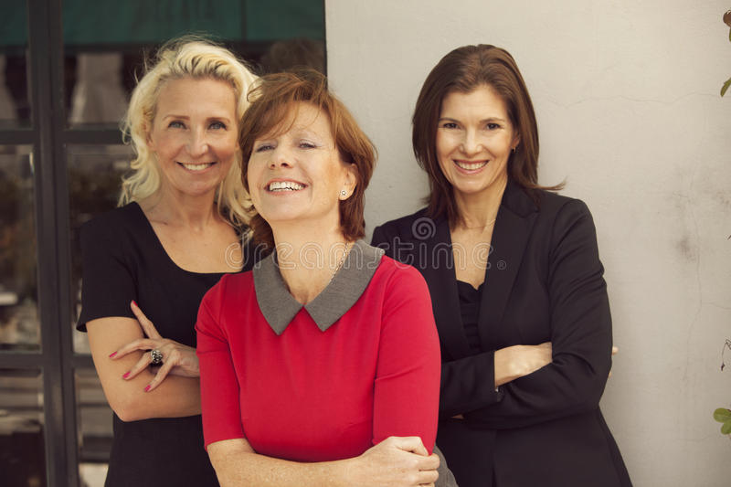 Group of mature business women stock photography