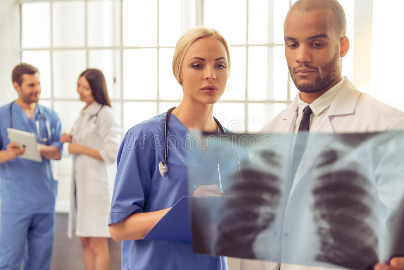 Group of medical doctors stock photos