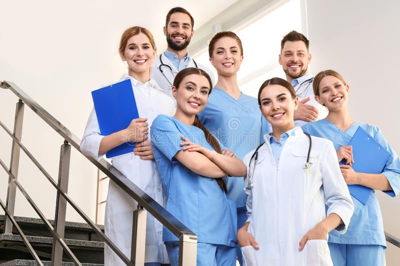 Group of medical doctors. Unity concept royalty free stock image
