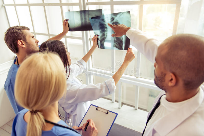 Group of medical doctors stock photography