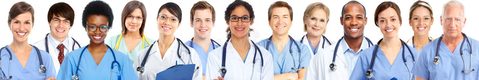 Group of medical doctors. Health care banner background royalty free stock photos