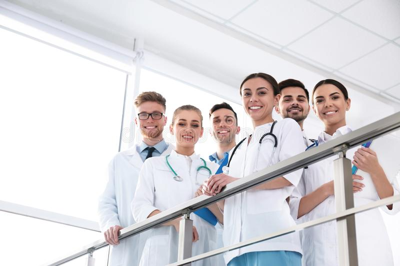 Group of medical doctors. Unity concept stock photography