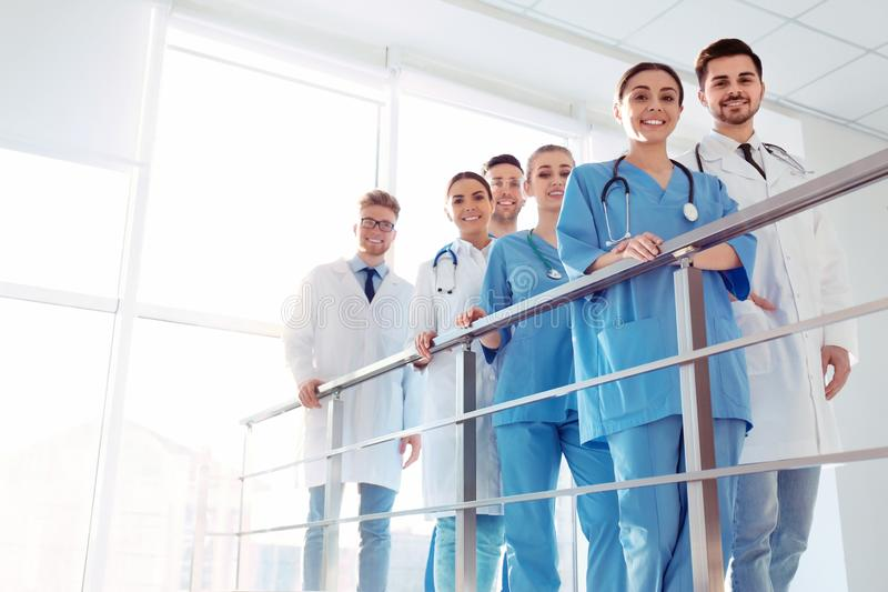 Group of medical doctors. Unity concept royalty free stock photo