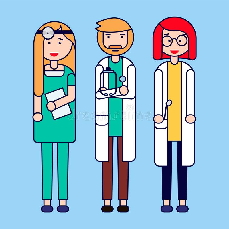 Group of medical professionals. Medical team concept in vector illustration design. Vector illustration stock illustration