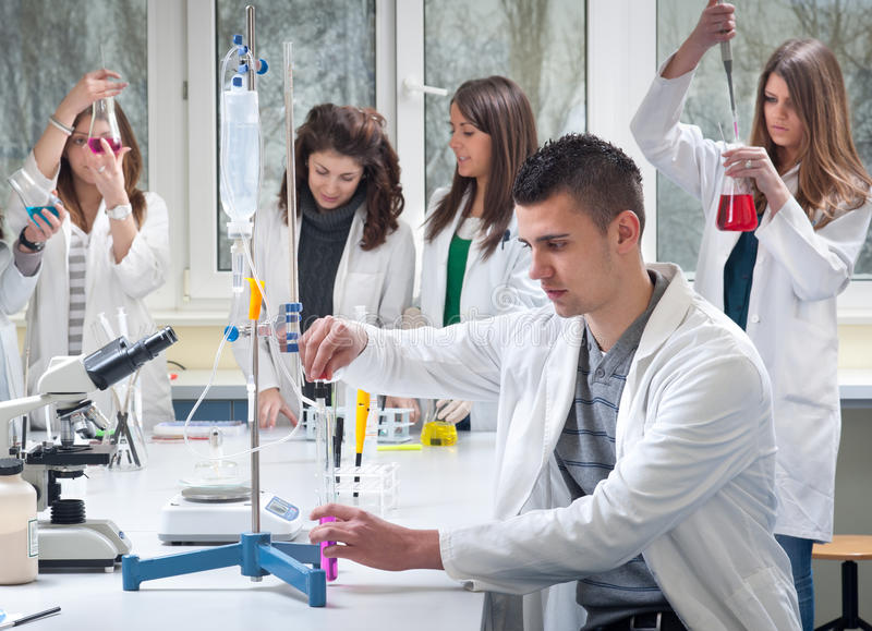 Group of medical students stock images