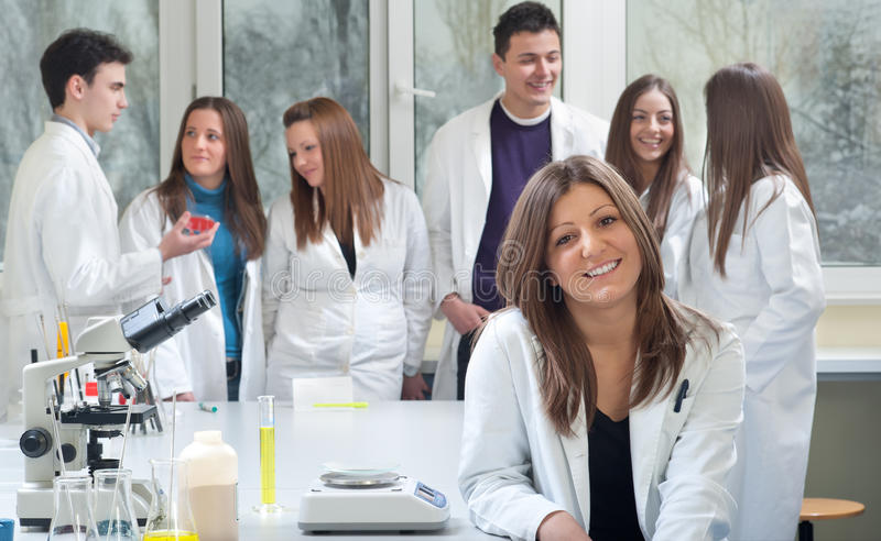 Group of medical students stock photography