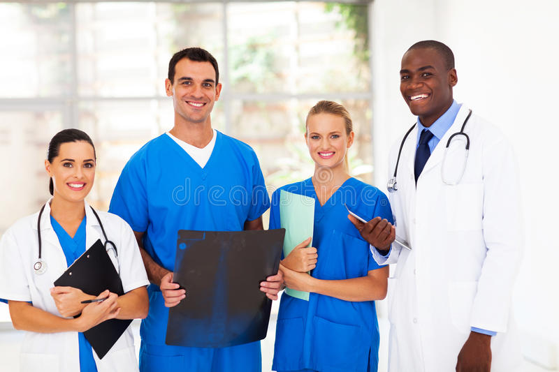 Group medical workers. Group of medical workers in hospital stock images