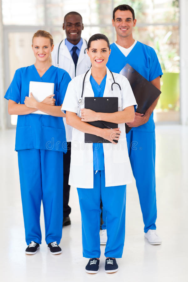 Group medical workers stock photo