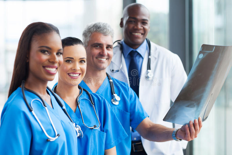 Group medical workers royalty free stock photography