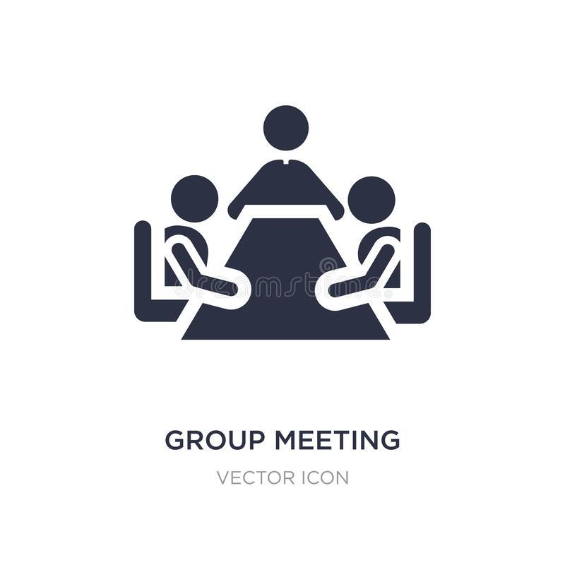 group meeting icon on white background. Simple element illustration from People concept stock illustration