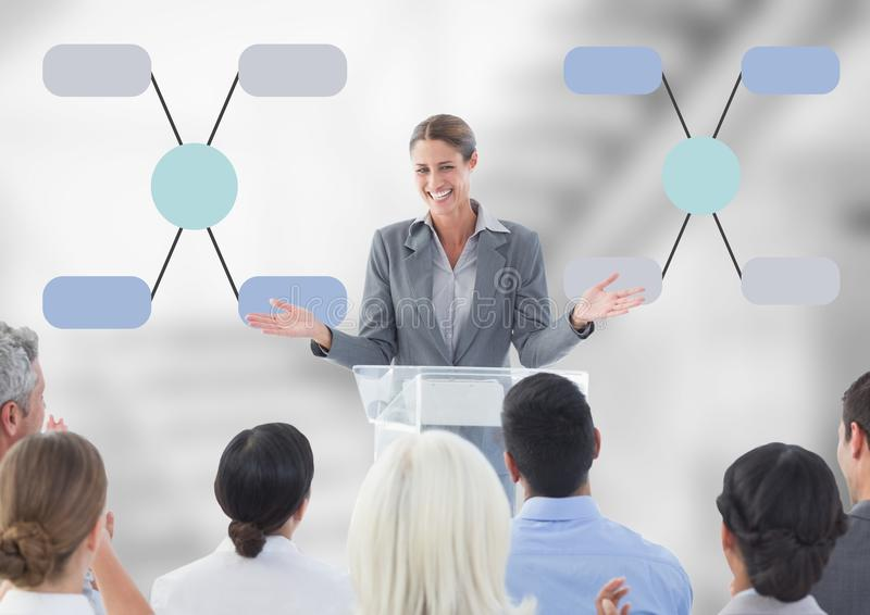 Group meeting with mind map conference royalty free stock photo