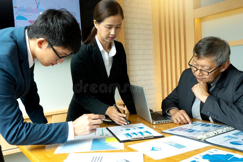 group meeting in the room have lcd screen stock photography
