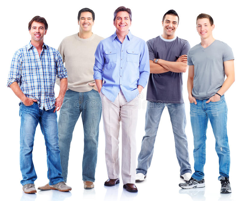 Group of men. stock photo