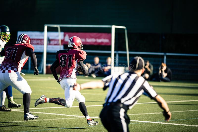 Group Men Playing Football royalty free stock images