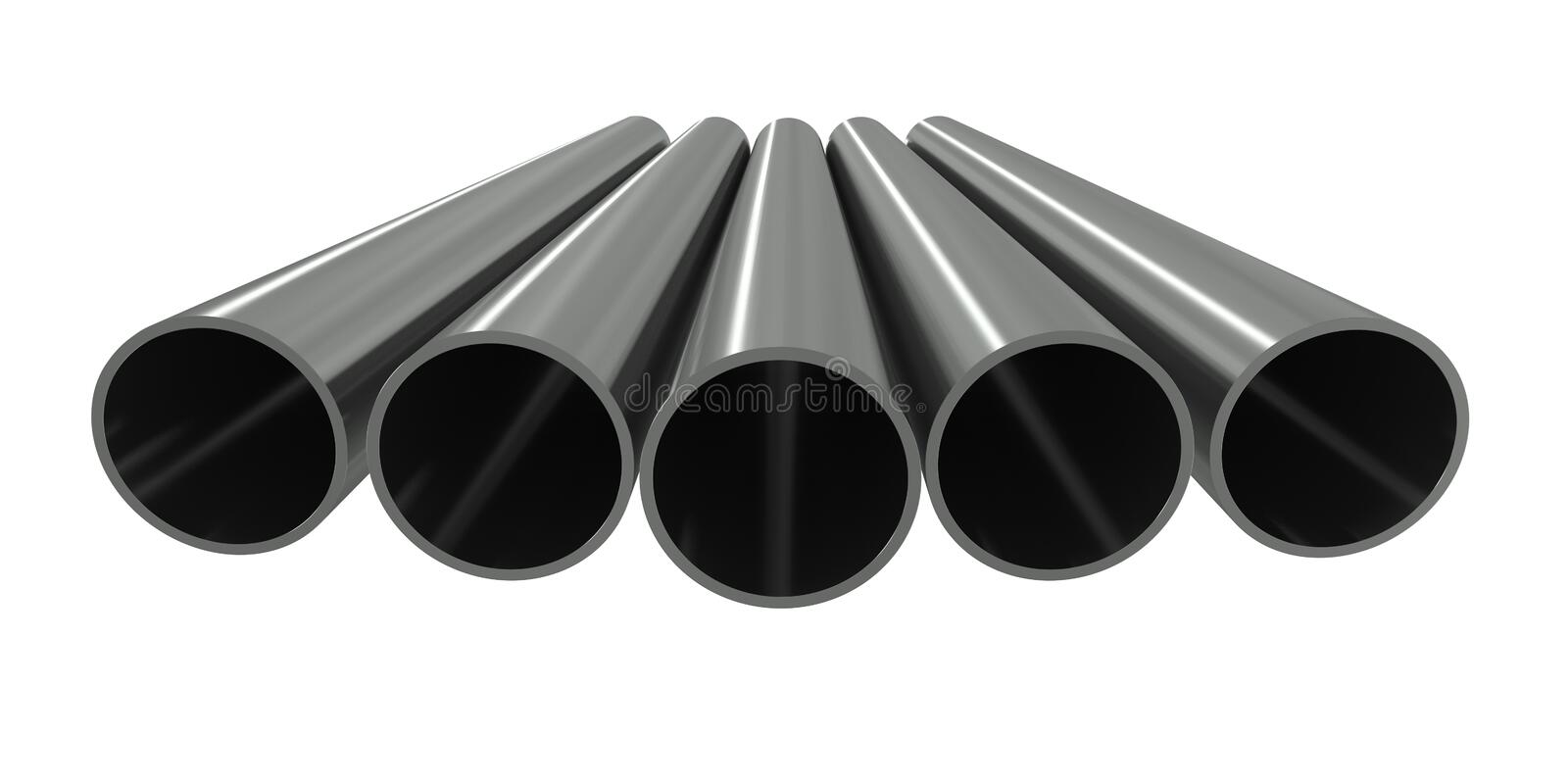 Group metal pipe royalty free illustration