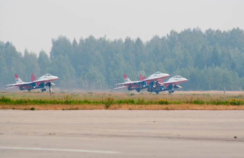 Download Group Of MiG-29's Taking Off Editorial Stock Photo - Image: 15662613