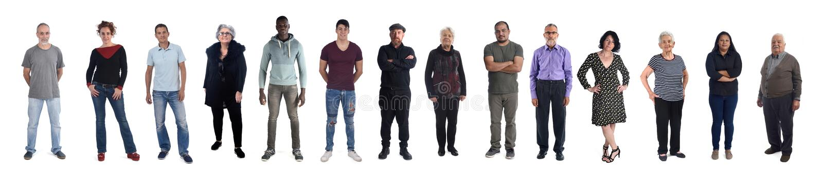 Group of mixed people royalty free stock images